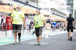 Circuit atmosphere - painters. 16.07.2020. Formula 1 World Championship, Rd 3, Hungarian Grand Prix, Budapest, Hungary, Preparation Day.