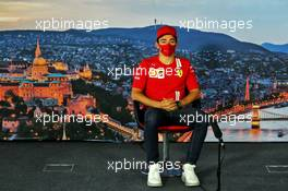 Charles Leclerc (MON) Ferrari in the FIA Press Conference. 16.07.2020. Formula 1 World Championship, Rd 3, Hungarian Grand Prix, Budapest, Hungary, Preparation Day.