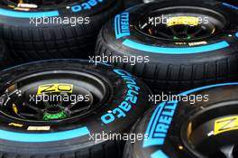 Renault F1 Team - Pirelli wet tyres. 16.07.2020. Formula 1 World Championship, Rd 3, Hungarian Grand Prix, Budapest, Hungary, Preparation Day.