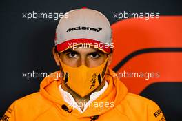Carlos Sainz Jr (ESP) McLaren in the FIA Press Conference. 30.10.2020. Formula 1 World Championship, Rd 13, Emilia Romagna Grand Prix, Imola, Italy, Practice Day.