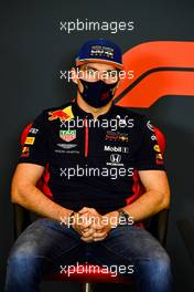 Max Verstappen (NLD) Red Bull Racing in the FIA Press Conference. 30.10.2020. Formula 1 World Championship, Rd 13, Emilia Romagna Grand Prix, Imola, Italy, Practice Day.
