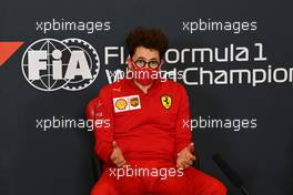 Mattia Binotto (ITA) Ferrari Team Principal in the FIA Press Conference. 30.10.2020. Formula 1 World Championship, Rd 13, Emilia Romagna Grand Prix, Imola, Italy, Practice Day.