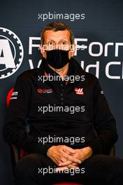 Guenther Steiner (ITA) Haas F1 Team Prinicipal in the FIA Press Conference. 30.10.2020. Formula 1 World Championship, Rd 13, Emilia Romagna Grand Prix, Imola, Italy, Practice Day.