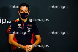 Alexander Albon (THA) Red Bull Racing in the FIA Press Conference. 30.10.2020. Formula 1 World Championship, Rd 13, Emilia Romagna Grand Prix, Imola, Italy, Practice Day.