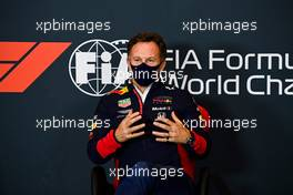 Christian Horner (GBR) Red Bull Racing Team Principal in the FIA Press Conference. 30.10.2020. Formula 1 World Championship, Rd 13, Emilia Romagna Grand Prix, Imola, Italy, Practice Day.
