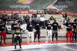 Drivers as the grid observes the national anthem. 01.11.2020. Formula 1 World Championship, Rd 13, Emilia Romagna Grand Prix, Imola, Italy, Race Day.