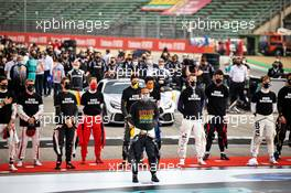Lewis Hamilton (GBR) Mercedes AMG F1 as the grid observes the national anthem. 01.11.2020. Formula 1 World Championship, Rd 13, Emilia Romagna Grand Prix, Imola, Italy, Race Day.