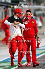 Charles Leclerc (MON) Ferrari on the grid. 01.11.2020. Formula 1 World Championship, Rd 13, Emilia Romagna Grand Prix, Imola, Italy, Race Day.