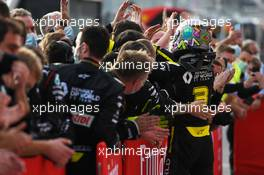 Daniel Ricciardo (AUS) Renault F1 Team celebrates his third position with the team in parc ferme. 01.11.2020. Formula 1 World Championship, Rd 13, Emilia Romagna Grand Prix, Imola, Italy, Race Day.