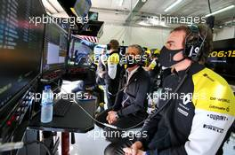 Fernando Alonso (ESP) Renault F1 Team and Alain Prost (FRA) Renault F1 Team Non-Executive Director. 31.10.2020. Formula 1 World Championship, Rd 13, Emilia Romagna Grand Prix, Imola, Italy, Qualifying Day.
