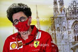 Mattia Binotto (ITA) Ferrari Team Principal in the FIA Press Conference. 04.09.2020. Formula 1 World Championship, Rd 8, Italian Grand Prix, Monza, Italy, Practice Day.