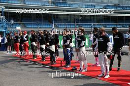 The Drivers during the Italian National Anthem. 06.09.2020. Formula 1 World Championship, Rd 8, Italian Grand Prix, Monza, Italy, Race Day.