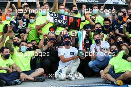 Race winner Pierre Gasly (FRA) AlphaTauri celebrates with the team. 06.09.2020. Formula 1 World Championship, Rd 8, Italian Grand Prix, Monza, Italy, Race Day.