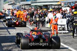 Max Verstappen (NLD) Red Bull Racing RB16 in the pits while the race is stopped. 06.09.2020. Formula 1 World Championship, Rd 8, Italian Grand Prix, Monza, Italy, Race Day.