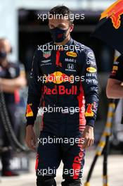 Alexander Albon (THA) Red Bull Racing in the pits while the race is stopped. 06.09.2020. Formula 1 World Championship, Rd 8, Italian Grand Prix, Monza, Italy, Race Day.
