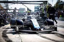 Nicholas Latifi (CDN) Williams Racing FW43 makes a pit stop. 06.09.2020. Formula 1 World Championship, Rd 8, Italian Grand Prix, Monza, Italy, Race Day.