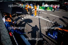 Lando Norris (GBR) McLaren in the pits while the race is stopped. 06.09.2020. Formula 1 World Championship, Rd 8, Italian Grand Prix, Monza, Italy, Race Day.