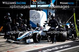 George Russell (GBR) Williams Racing FW43 makes a pit stop. 06.09.2020. Formula 1 World Championship, Rd 8, Italian Grand Prix, Monza, Italy, Race Day.