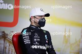 Valtteri Bottas (FIN) Mercedes AMG F1 in the post qualifying FIA Press Conference. 05.09.2020. Formula 1 World Championship, Rd 8, Italian Grand Prix, Monza, Italy, Qualifying Day.