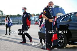 Adrian Newey (GBR) Red Bull Racing Chief Technical Officer and Christian Horner (GBR) Red Bull Racing Team Principal. 23.10.2020. Formula 1 World Championship, Rd 12, Portuguese Grand Prix, Portimao, Portugal, Practice Day.