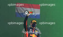 Max Verstappen (NLD) Red Bull Racing celebrates his third position on the podium. 25.10.2020. Formula 1 World Championship, Rd 12, Portuguese Grand Prix, Portimao, Portugal, Race Day.