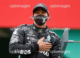 Race winner Lewis Hamilton (GBR) Mercedes AMG F1 celebrates in parc ferme. 25.10.2020. Formula 1 World Championship, Rd 12, Portuguese Grand Prix, Portimao, Portugal, Race Day.