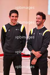 (L to R): Esteban Ocon (FRA) Renault F1 Team with Daniel Ricciardo (AUS) Renault F1 Team. 12.02.2020. Renault F1 Team Season Opener, L'Atelier Renault, Paris, France, Wednesday.