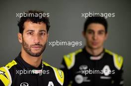 Daniel Ricciardo (AUS) Renault F1 Team with team mate Esteban Ocon (FRA) Renault F1 Team. 12.02.2020. Renault F1 Team Season Opener, L'Atelier Renault, Paris, France, Wednesday.