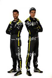 (L to R): Daniel Ricciardo (AUS) Renault F1 Team with Esteban Ocon (FRA) Renault F1 Team. 12.02.2020. Renault F1 Team Season Opener, L'Atelier Renault, Paris, France, Wednesday.