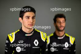 (L to R): Esteban Ocon (FRA) Renault F1 Team with team mate Daniel Ricciardo (AUS) Renault F1 Team. 12.02.2020. Renault F1 Team Season Opener, L'Atelier Renault, Paris, France, Wednesday.