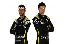 (L to R): Daniel Ricciardo (AUS) Renault F1 Team with team mate Esteban Ocon (FRA) Renault F1 Team. 12.02.2020. Renault F1 Team Season Opener, L'Atelier Renault, Paris, France, Wednesday.
