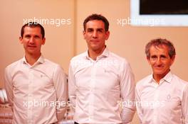 (L to R): Remi Taffin (FRA) Renault Sport F1 Engine Technical Director; Cyril Abiteboul (FRA) Renault Sport F1 Managing Director; Alain Prost (FRA) Renault F1 Team Non-Executive Director. 12.02.2020. Renault F1 Team Season Opener, L'Atelier Renault, Paris, France, Wednesday.