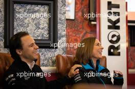 Felipe Massa (BRA) with Claire Williams (GBR) Williams Racing Deputy Team Principal. 02.03.2020. ROKiT Racing brand launch, Covent Garden, London, UK.