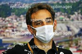 Cyril Abiteboul (FRA) Renault Sport F1 Managing Director in the FIA Press Conference. 25.09.2020. Formula 1 World Championship, Rd 10, Russian Grand Prix, Sochi Autodrom, Sochi, Russia, Practice Day.