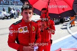 Charles Leclerc (MON) Ferrari on the grid. 27.09.2020. Formula 1 World Championship, Rd 10, Russian Grand Prix, Sochi Autodrom, Sochi, Russia, Race Day.