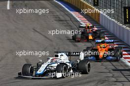 George Russell (GBR) Williams Racing FW43. 27.09.2020. Formula 1 World Championship, Rd 10, Russian Grand Prix, Sochi Autodrom, Sochi, Russia, Race Day.