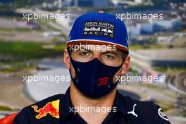 Max Verstappen (NLD) Red Bull Racing in the FIA Press Conference. 24.09.2020. Formula 1 World Championship, Rd 10, Russian Grand Prix, Sochi Autodrom, Sochi, Russia, Preparation Day.