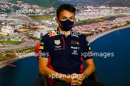 Alexander Albon (THA) Red Bull Racing in the FIA Press Conference. 24.09.2020. Formula 1 World Championship, Rd 10, Russian Grand Prix, Sochi Autodrom, Sochi, Russia, Preparation Day.