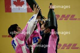 1st place Sergio Perez (MEX) Racing Point F1 Team RP19 and Andy Stevenson. 06.12.2020. Formula 1 World Championship, Rd 16, Sakhir Grand Prix, Sakhir, Bahrain, Race Day.