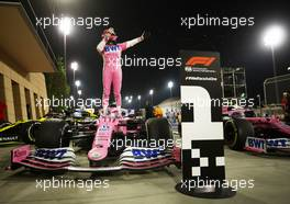 Race winner Sergio Perez (MEX) Racing Point F1 Team RP19 celebrates in parc ferme. 06.12.2020. Formula 1 World Championship, Rd 16, Sakhir Grand Prix, Sakhir, Bahrain, Race Day.
