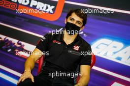 Pietro Fittipaldi (BRA) Haas F1 Team in the FIA Press Conference. 03.12.2020. Formula 1 World Championship, Rd 16, Sakhir Grand Prix, Sakhir, Bahrain, Preparation Day.