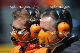 Zak Brown (USA) McLaren Executive Director and Andreas Seidl, McLaren Managing Director on the grid. 12.07.2020. Formula 1 World Championship, Rd 2, Steiermark Grand Prix, Spielberg, Austria, Race Day.