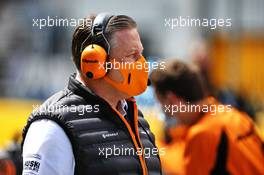 Zak Brown (USA) McLaren Executive Director on the grid. 12.07.2020. Formula 1 World Championship, Rd 2, Steiermark Grand Prix, Spielberg, Austria, Race Day.