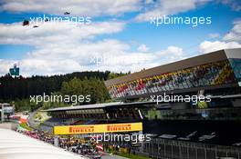 Grid atmosphere - air display. 12.07.2020. Formula 1 World Championship, Rd 2, Steiermark Grand Prix, Spielberg, Austria, Race Day.