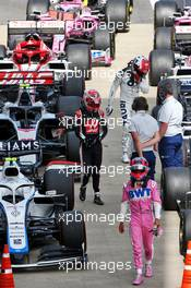 Sergio Perez (MEX) Racing Point F1 Team RP19 in parc ferme. 12.07.2020. Formula 1 World Championship, Rd 2, Steiermark Grand Prix, Spielberg, Austria, Race Day.