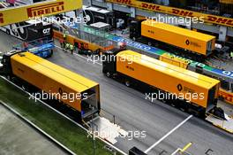 Renault F1 Team trucks - post race pack up.