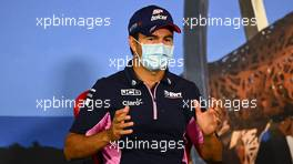 Sergio Perez (MEX) Racing Point F1 Team in the FIA Press Conference. 09.07.2020. Formula 1 World Championship, Rd 2, Steiermark Grand Prix, Spielberg, Austria, Preparation Day.