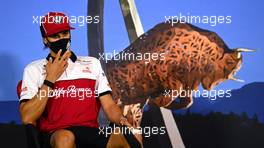 Antonio Giovinazzi (ITA) Alfa Romeo Racing in the FIA Press Conference. 09.07.2020. Formula 1 World Championship, Rd 2, Steiermark Grand Prix, Spielberg, Austria, Preparation Day.