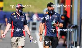(L to R): Max Verstappen (NLD) Red Bull Racing with team mate Alexander Albon (THA) Red Bull Racing. 09.07.2020. Formula 1 World Championship, Rd 2, Steiermark Grand Prix, Spielberg, Austria, Preparation Day.