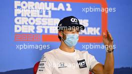 Pierre Gasly (FRA) AlphaTauri in the FIA Press Conference. 09.07.2020. Formula 1 World Championship, Rd 2, Steiermark Grand Prix, Spielberg, Austria, Preparation Day.